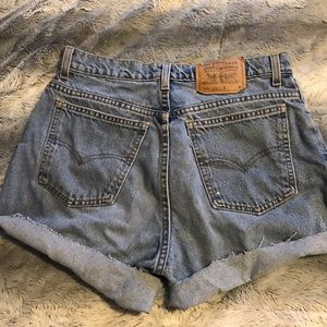 Levi's Denim Highwaisted Shorts